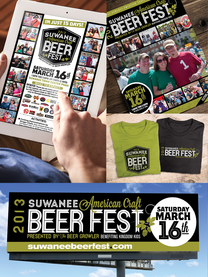 Veugeler Design Group -  Suwanee Beer Festival 2013 Marketing Materials