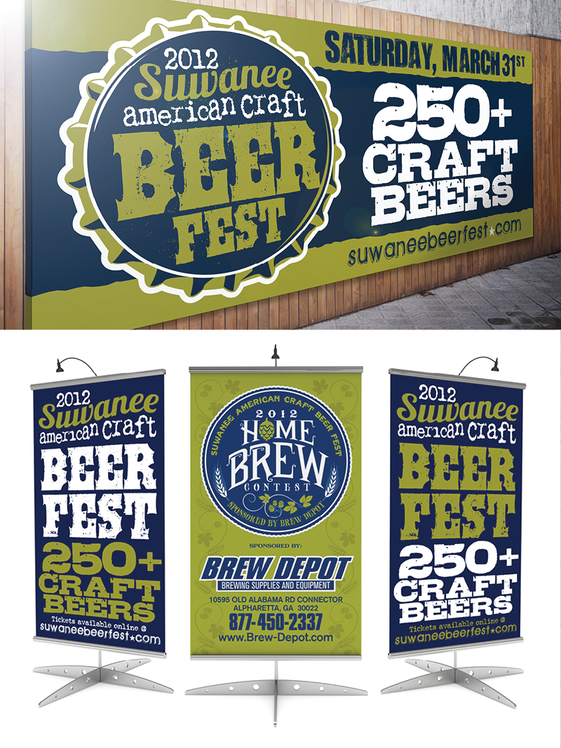 Veugeler Design Group -  Suwanee Beer Festival 2012 Marketing Materials
