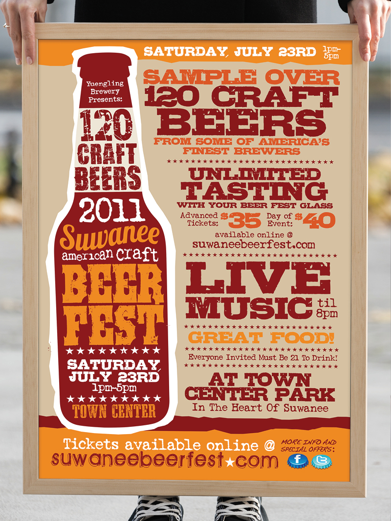 Veugeler Design Group -  Suwanee Beer Festival 2011 Marketing Materials