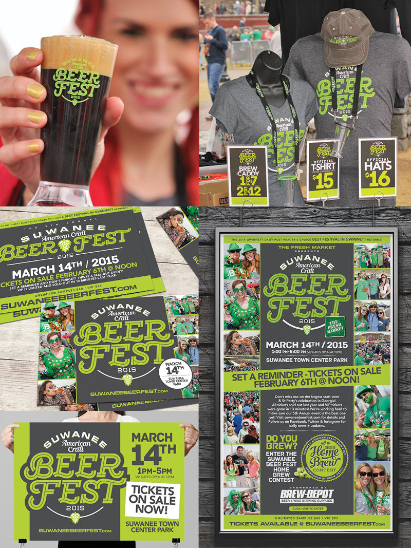 Veugeler Design Group -  Suwanee Beer Festival 2015 Marketing Materials