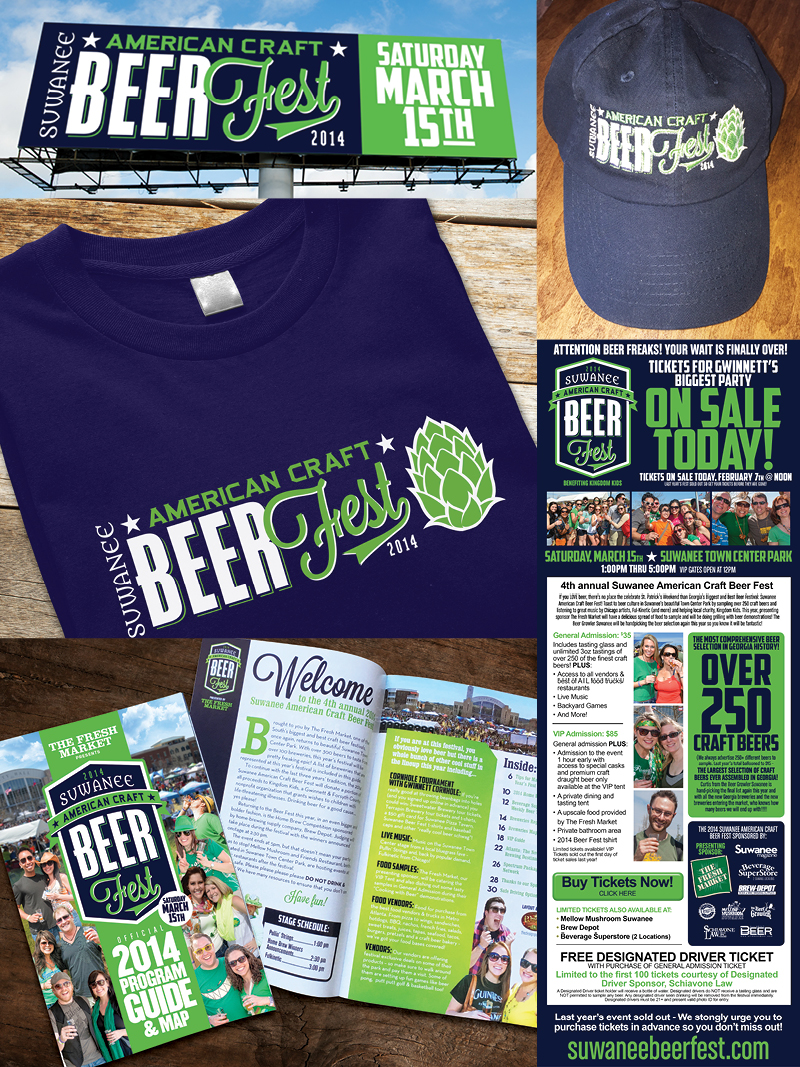 Veugeler Design Group -  Suwanee Beer Festival 2014 Marketing Materials