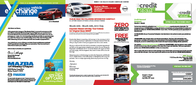 Veugeler Design Group - Automotive Letter Mailers