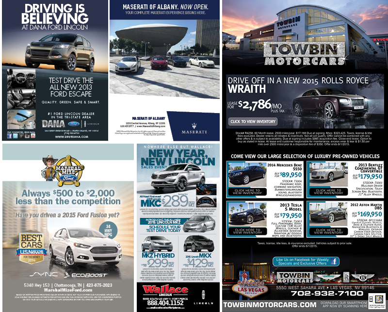 Veugeler Design Group - Automotive Print Ads