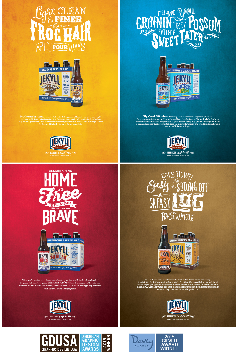 Veugeler Design Group - Jekyll Brewing- Website Design - Print Design - Postcards - Email