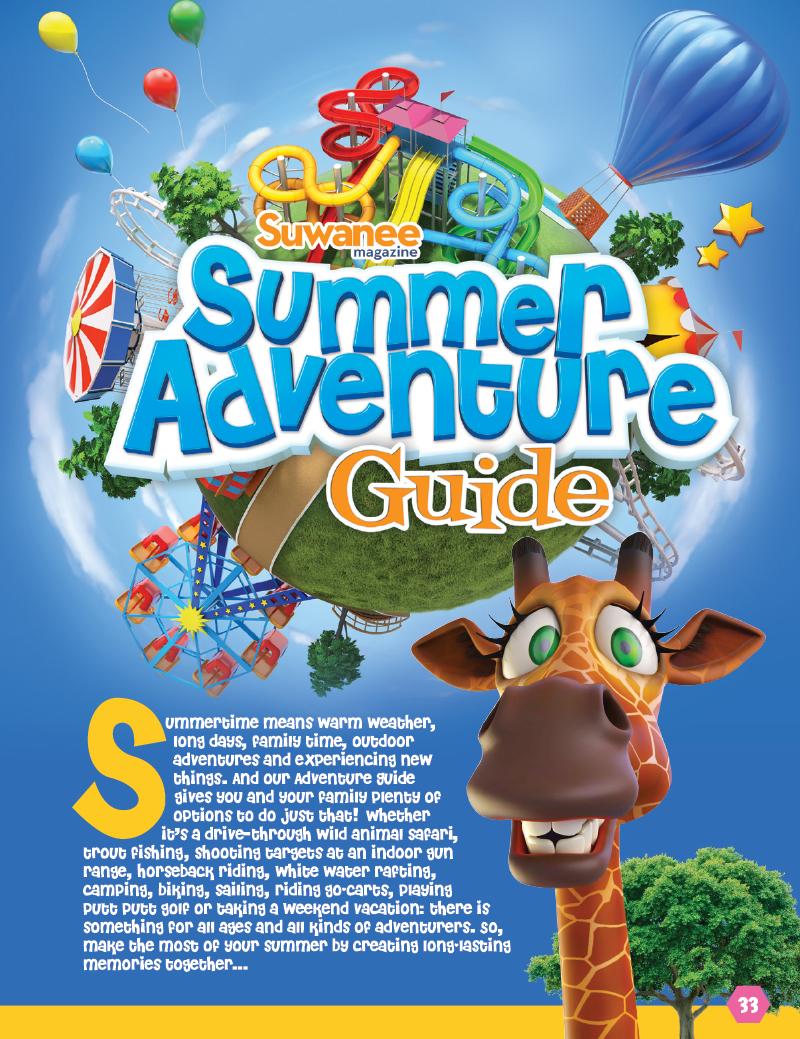 Veugeler Design Group - Publishers of Suwanee Magazine - Summer Adventure Guide