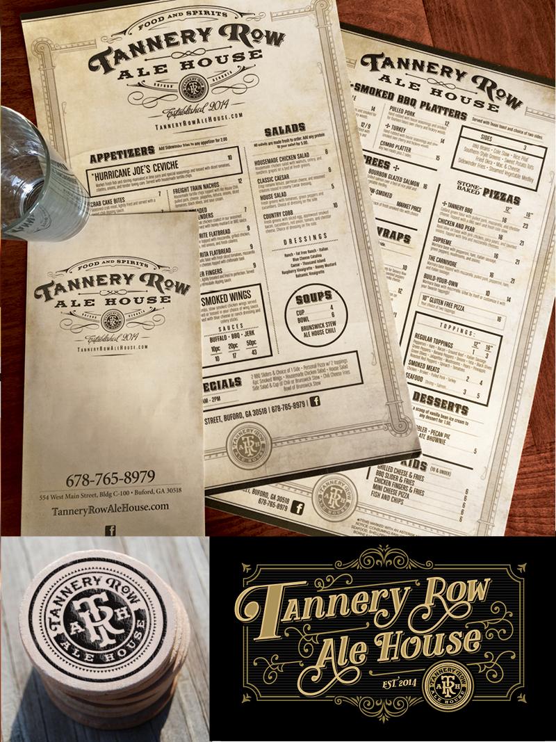 Veugeler Design Group - Tannery Row Ale House - Corporate ID - Logo Design -Website Design- Print Design