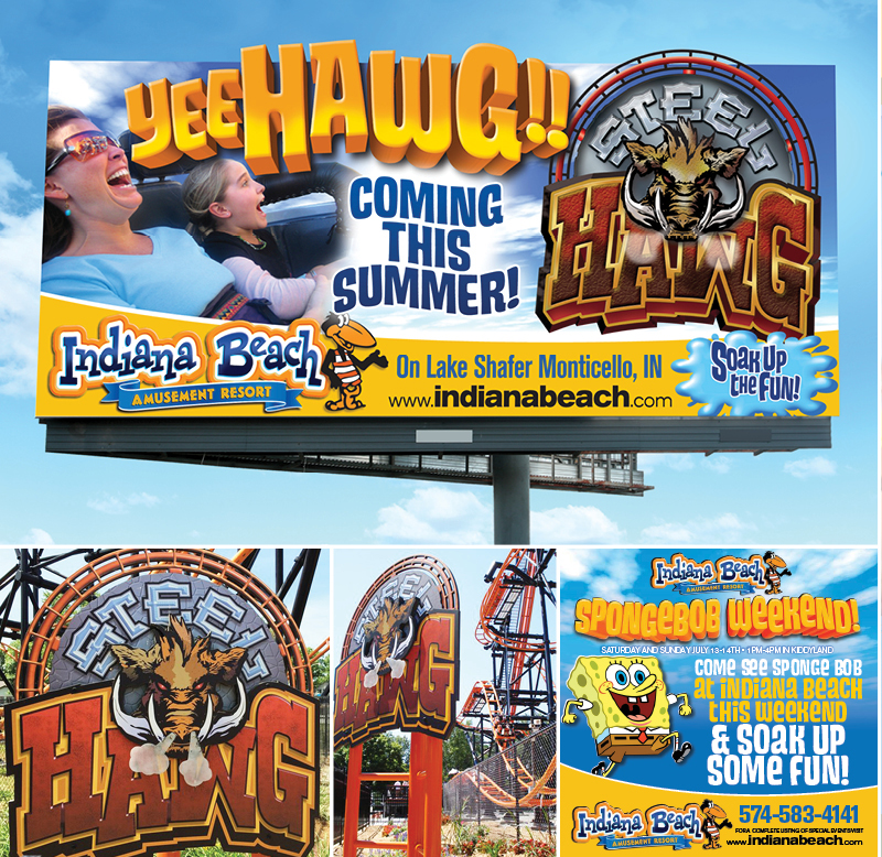 Veugeler Design Group - Indiana Beach Amusement Resort - Billboard Design- Logo Design - Corporate ID