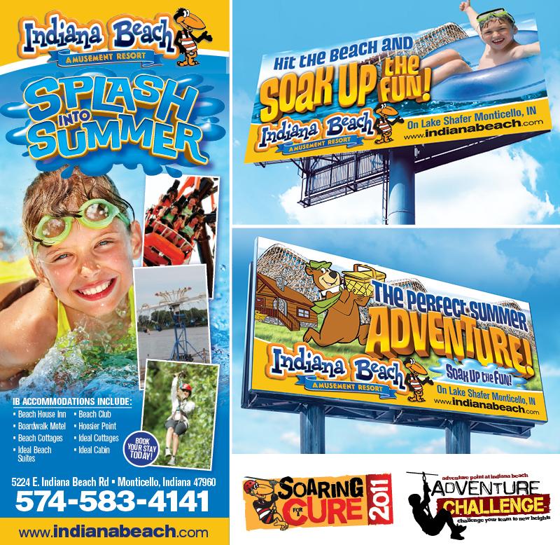 Veugeler Design Group - Indiana Beach Amusement Resort - Billboard Design- Logo Design - Corporate ID
