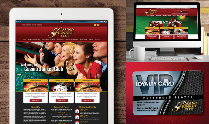 Veugeler Design Group - Casino Junket Club- Corporate ID - Logo Design -Website Design-