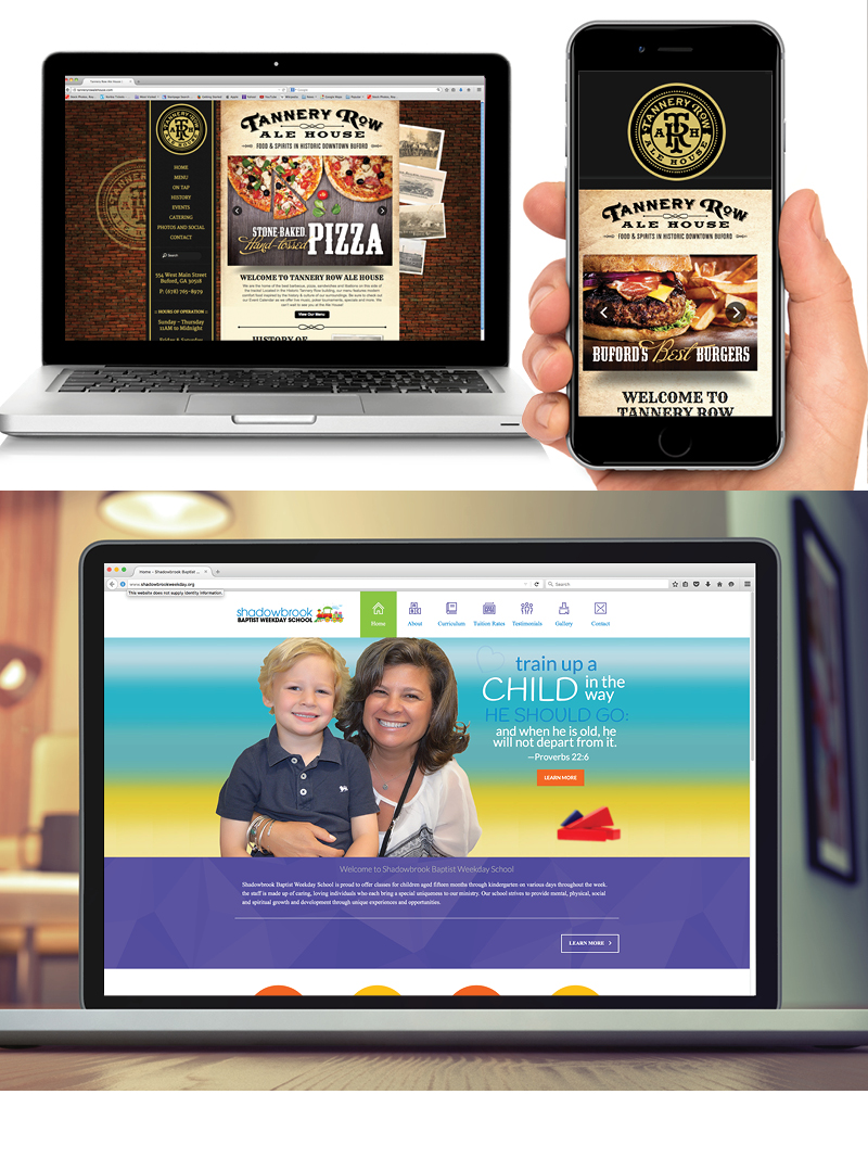 Veugeler Design Group  Website Design & Development - Tannery Row Ale House Shadowbrook Baptist Weekday School