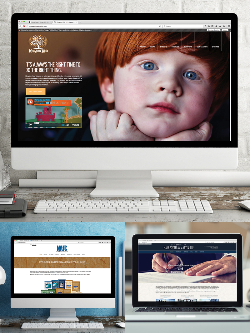 Veugeler Design Group  Website Design & Development - Kingdom Kids, North America For Christ, Hays Potter Martin LLC